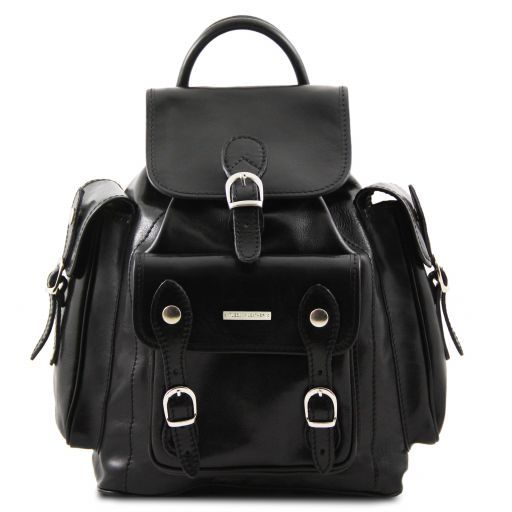 Pechino Leather Backpack Black TL9052