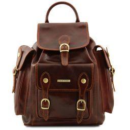 Pechino Кожаный рюкзак с просторными карманами Коричневый TL9052