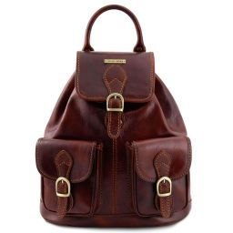 Tokyo Leather Backpack Brown TL9035