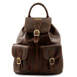 Tokyo Leather Backpack Dark Brown TL9035