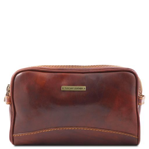Igor Leather toilet bag Brown TL140850
