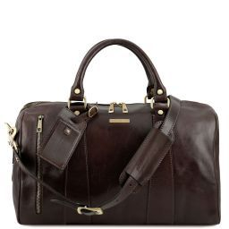 TL Voyager Travel leather duffle bag - Small size Dark Brown TL141216