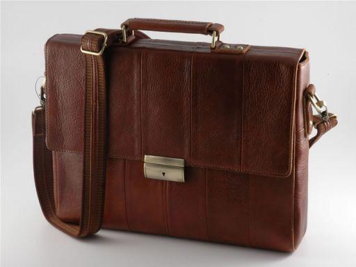 Padova Leather Briefcase Коричневый TL100275