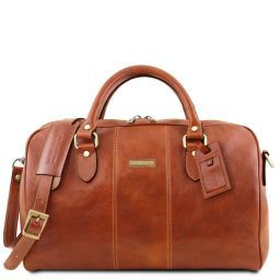 Lisbona Travel leather duffle bag - Small size Honey TL141658