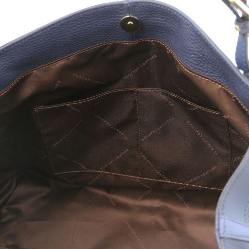 Ambrosia Bolso shopping en piel suave con bandolera Azul oscuro TL141516