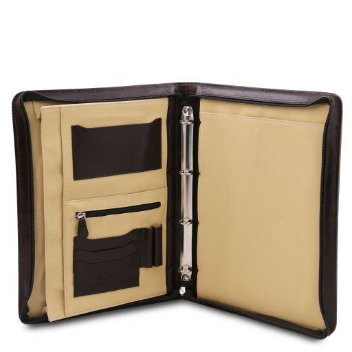 Costanzo Esclusivo portadocumenti in pelle con anelli e manico Testa di Moro TL141208