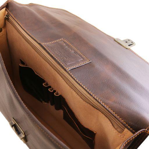 Amalfi Portafolio en piel con 1 compartimento Negro TL10050