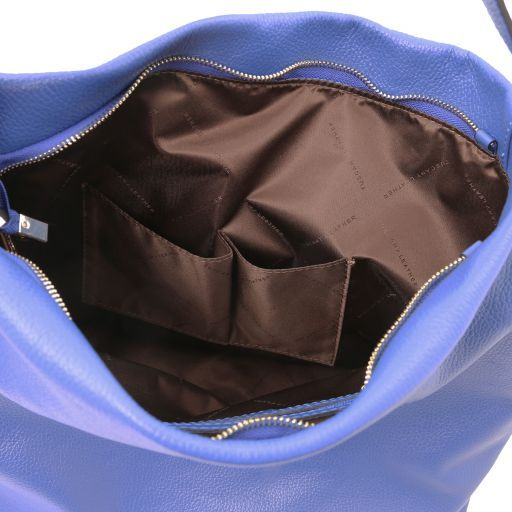 TL Bag Soft leather hobo bag Blue TL141884