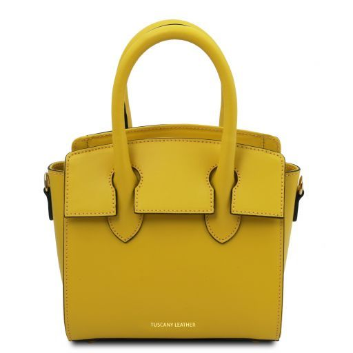 Brigid Leather handbag - Small size Yellow TL141942