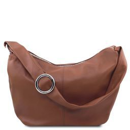 Yvette Soft leather hobo bag Cinnamon TL140900