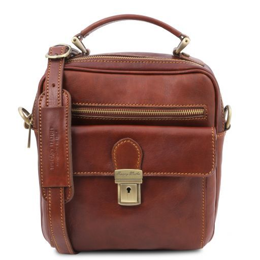 Brian Leather shoulder bag for man Brown TL141978