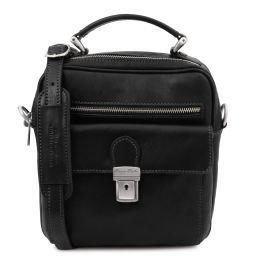 Brian Leather shoulder bag for man Black TL141978