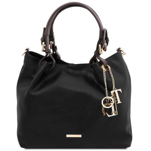 TL KeyLuck Tasche aus weichem Leder Schwarz TL141940