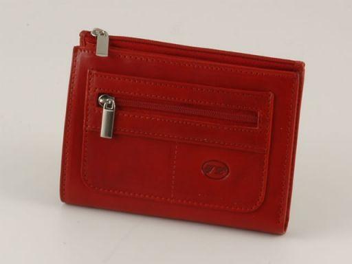 Esclusivo portafoglio in pelle donna Rosso TL140283