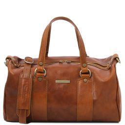 Lucrezia Leather maxi duffle bag Honey TL141977