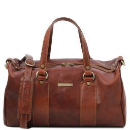 Lucrezia Leather maxi duffle bag Коричневый TL141977