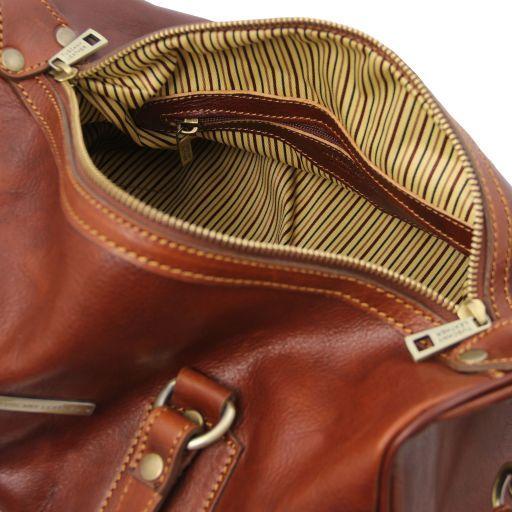 Lucrezia Leather maxi duffle bag Коричневый TL141977