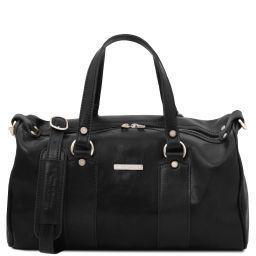 Lucrezia Leather maxi duffle bag Black TL141977
