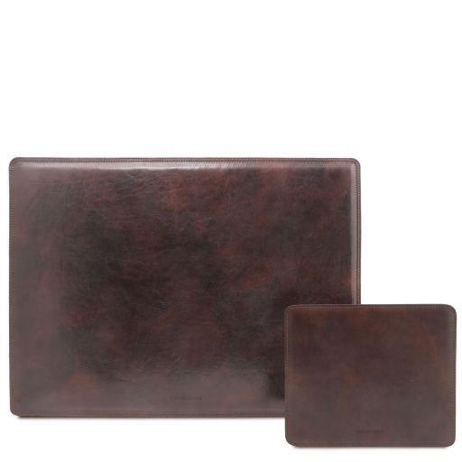 Office Set Leather desk pad and mouse pad Темно-коричневый TL141980