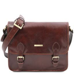 TL Postman Leather messenger bag Brown TL141288
