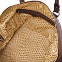 Oslo Travel leather duffle bag - Weekender bag Dark Brown TL141913