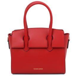 Brigid Leather handbag Lipstick Red TL141943