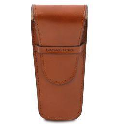 Elegante porta penne 2 posti/porta orologio in pelle Miele TL141273