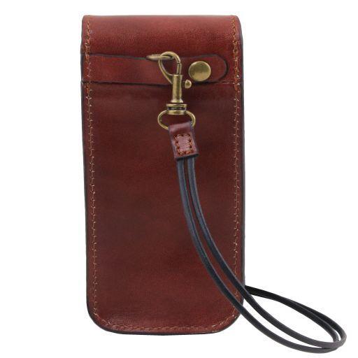 Эксклюзивный кожаный футляр для Очков/Смартфона Большой размер Коричневый TL141321