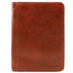 Ottavio Leather document case Honey TL141294