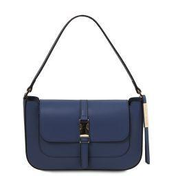 Noemi Leather clutch handbag Dark Blue TL141959