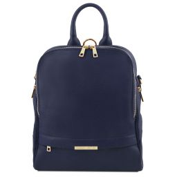 TL Bag Soft leather backpack for women Dark Blue TL141376