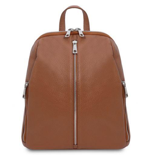 TL Bag Lederrucksack für Damen aus weichem Leder Cognac TL141982