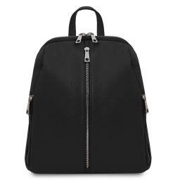 TL Bag Sac à dos pour femme en cuir souple Noir TL141982