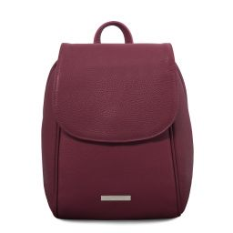 TL Bag Soft leather backpack Bordeaux TL141905