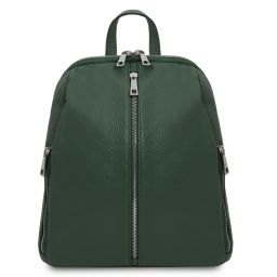 TL Bag Soft leather backpack for women Forest Green TL141982