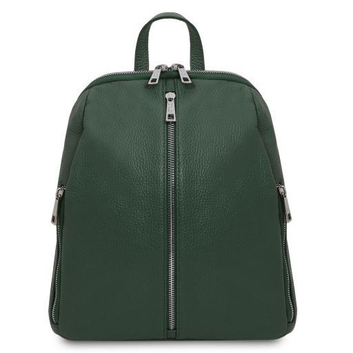 TL Bag Lederrucksack für Damen aus weichem Leder Tannengrün TL141982