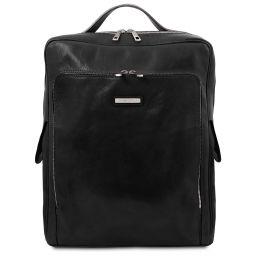 Bangkok Leather laptop backpack - Large size Black TL141987