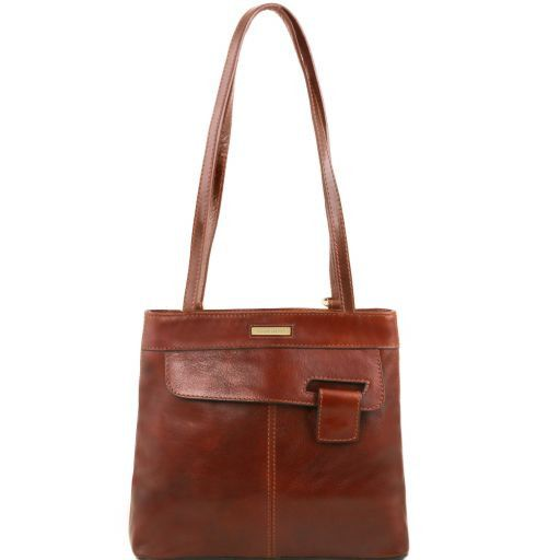 Martina Borsa donna in pelle convertibile a zaino Marrone TL141477