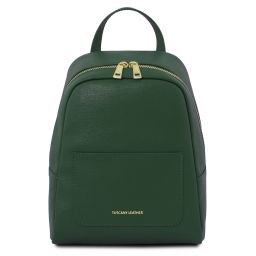 TL Bag Small Saffiano leather backpack for woman Forest Green TL141701