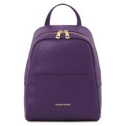 TL Bag Mochila pequeño en piel Saffiano para mujer Violeta TL141701