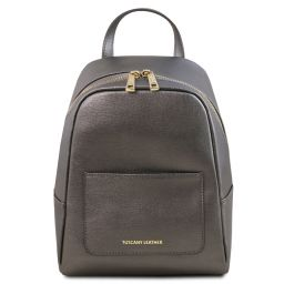 TL Bag Small Saffiano leather backpack for woman Iron-grey TL141701