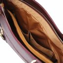 Patty Saffiano leather convertible bag Bordeaux TL141455