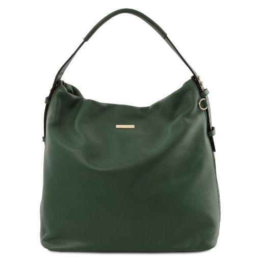 TL Bag Beuteltasche aus weichem Leder Tannengrün TL141884