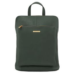 TL Bag Zaino donna in pelle morbida Verde Foresta TL141682