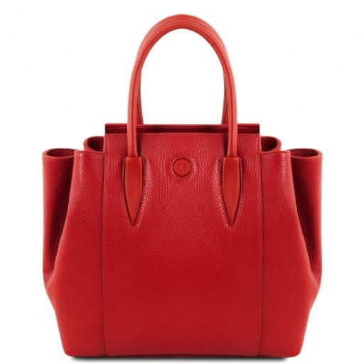 Tulipan Leather handbag Lipstick Red TL141727