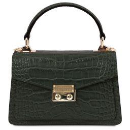 TL Bag Mini borsa in pelle effetto cocco Verde Foresta TL141995