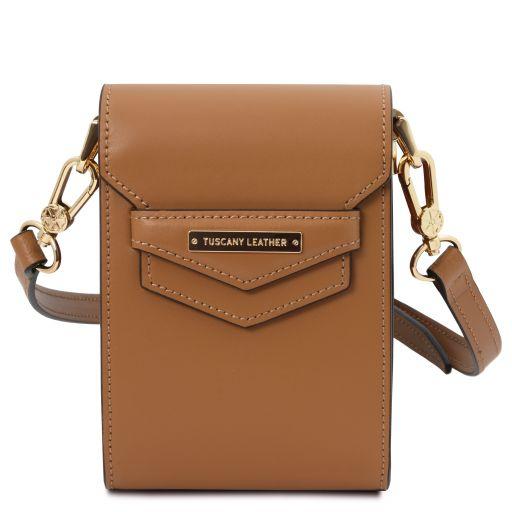 TL Bag Leather shoulder bag Cognac TL141996