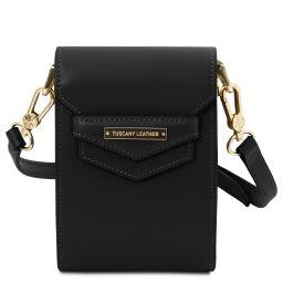 TL Bag Leather shoulder bag Black TL141996