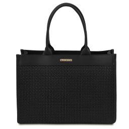TL Bag Tasche aus geprägtem Leder Schwarz TL141724