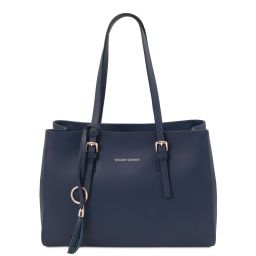 TL Bag Leather shoulder bag Темно-синий TL142037